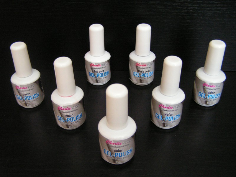 Charlie Gel lak sada na nehty - color 7 x 15ml.