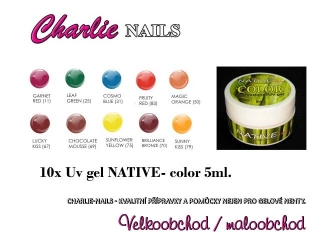 Native UV/LED gel flexi COLOR 10x 5ml.