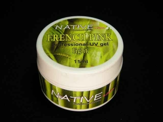 Native UV GEL french růžový light 15g